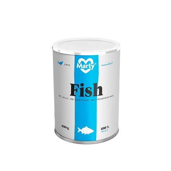 Marty Premium Nassfutter für Katzen mit 100% Fisch