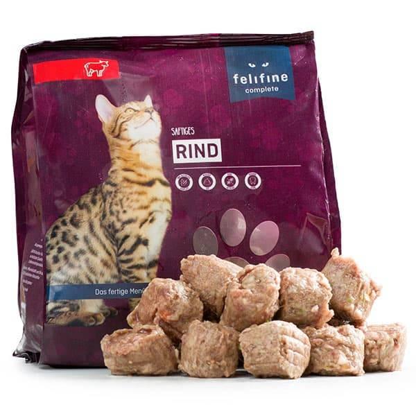 FeliFine BARF Komplettmenü für Katzen mit saftigem Rind