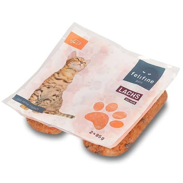 FeliFine pures Frostfleisch für Katzen - BARF Lachs
