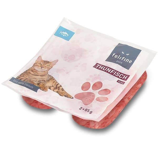 FeliFine pures Frostfleisch für Katzen - BARF Thunfisch